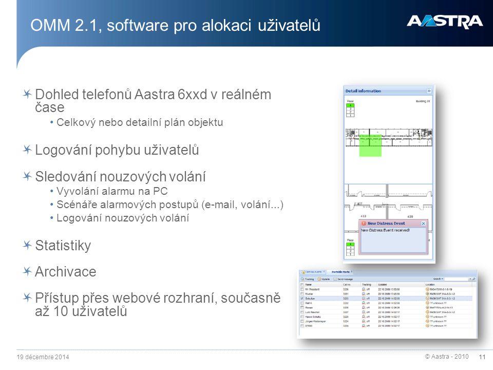 OMM 2.1, software pro alokaci uživatelů