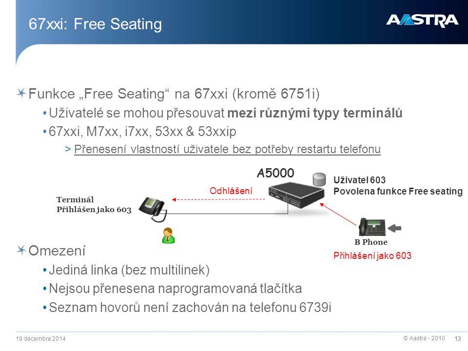 """67xxi: Free Seating Funkce """"Free Seating na 67xxi (kromě 6751i)"""