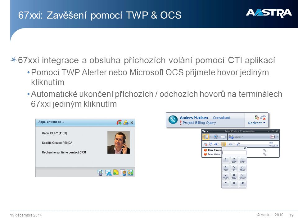 67xxi: Zavěšení pomocí TWP & OCS