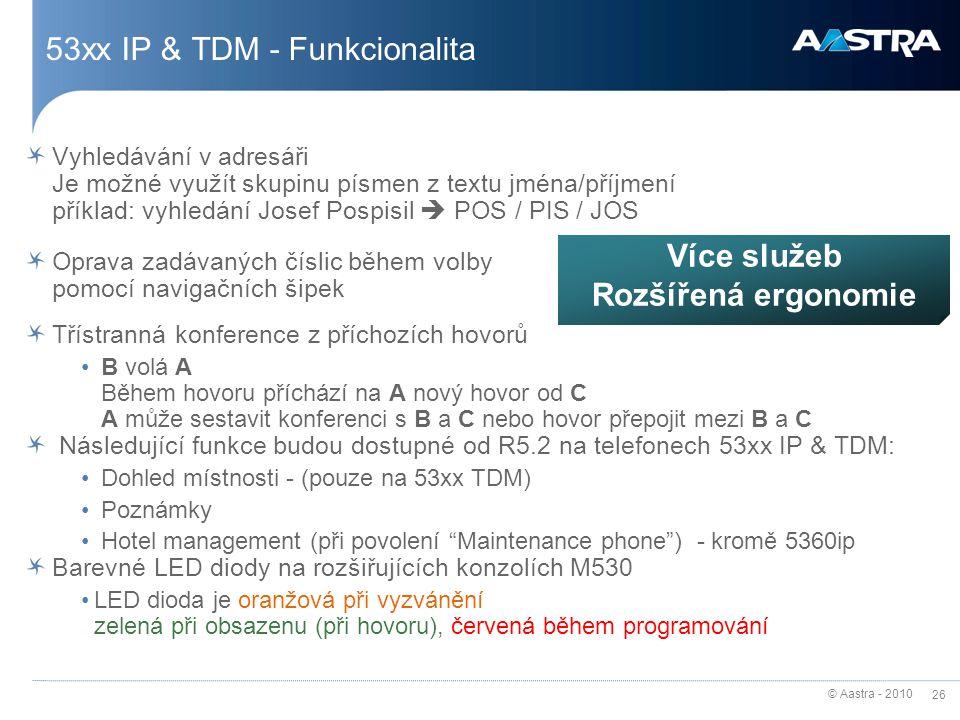 53xx IP & TDM - Funkcionalita