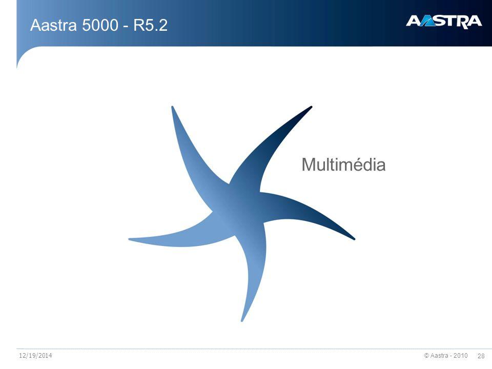 Aastra 5000 - R5.2 Multimédia 4/7/2017