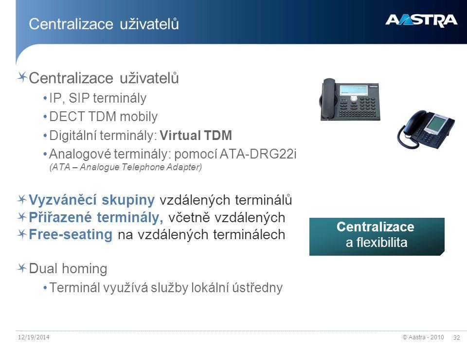 Centralizace uživatelů