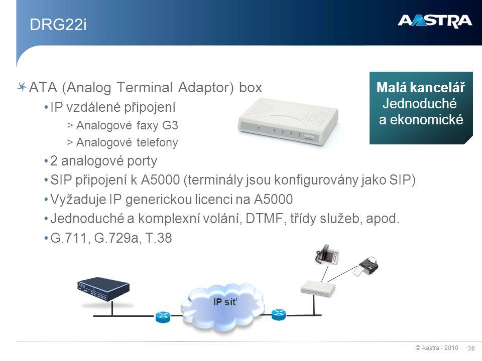 DRG22i ATA (Analog Terminal Adaptor) box Malá kancelář Jednoduché
