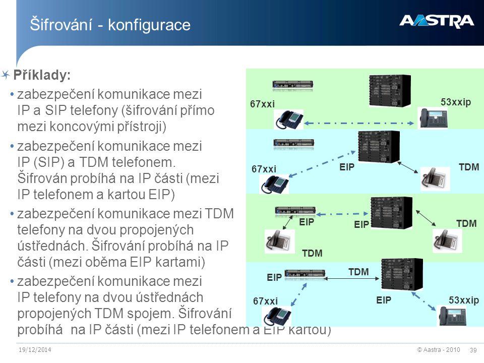 Šifrování - konfigurace