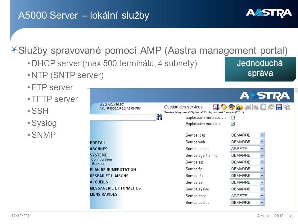 A5000 Server – lokální služby
