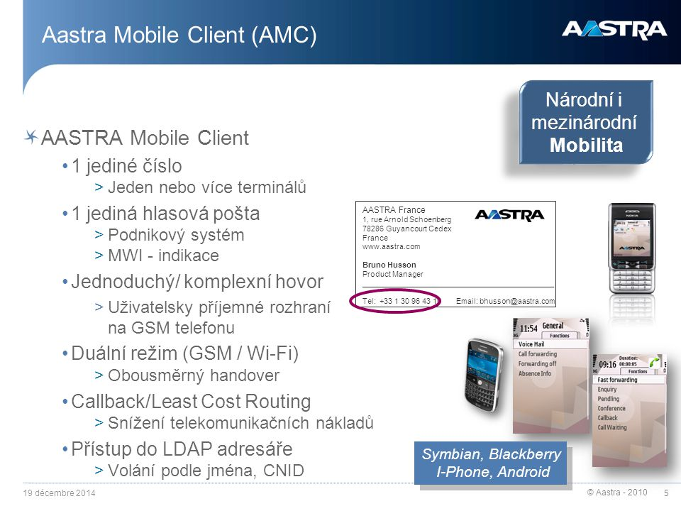 Aastra Mobile Client (AMC)
