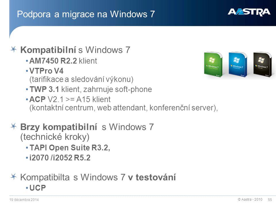 Podpora a migrace na Windows 7