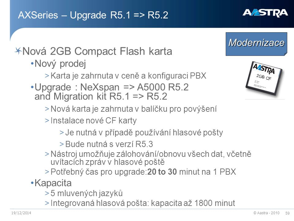 AXSeries – Upgrade R5.1 => R5.2