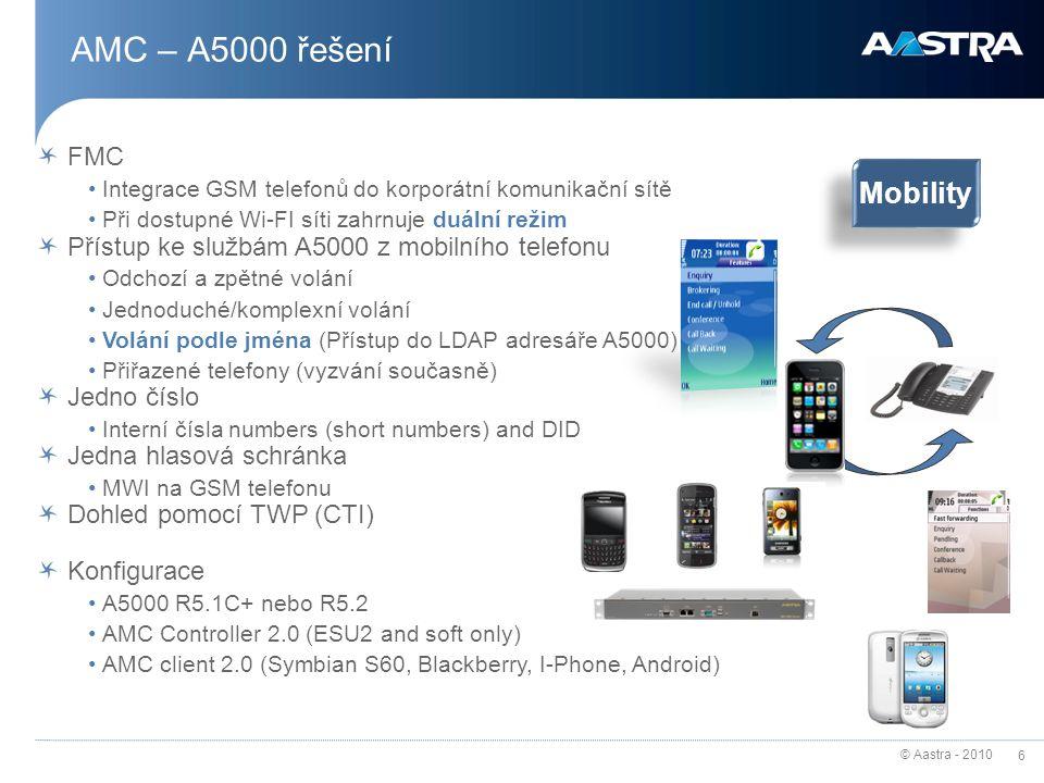 AMC – A5000 řešení Mobility FMC