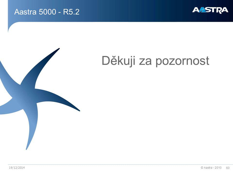 Aastra 5000 - R5.2 Děkuji za pozornost 07/04/2017