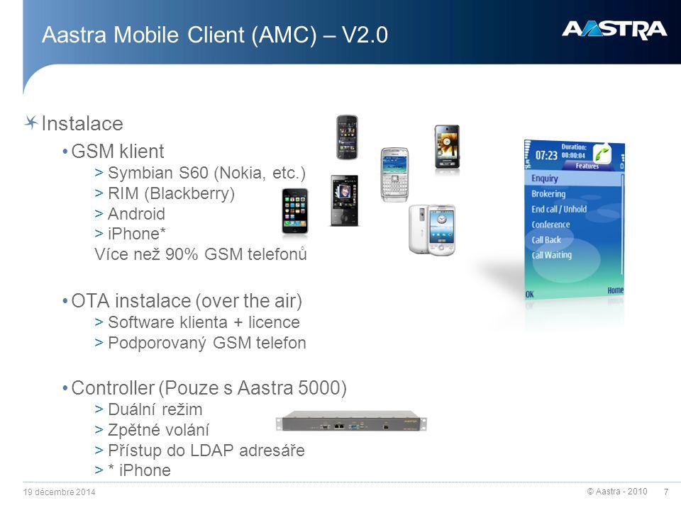 Aastra Mobile Client (AMC) – V2.0