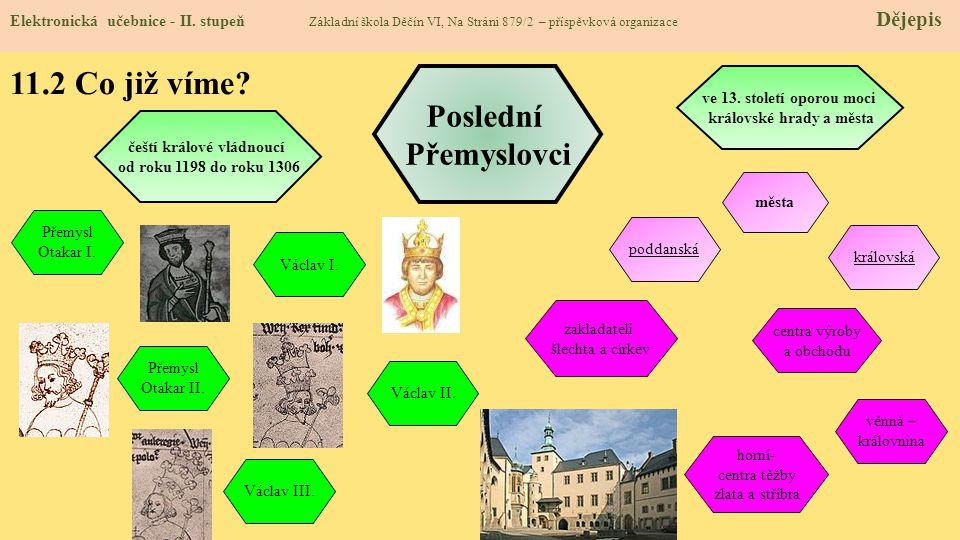 královské hrady a města čeští králové vládnoucí