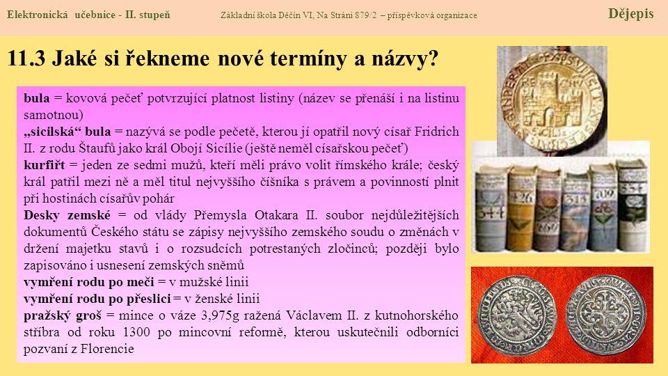 11.3 Jaké si řekneme nové termíny a názvy