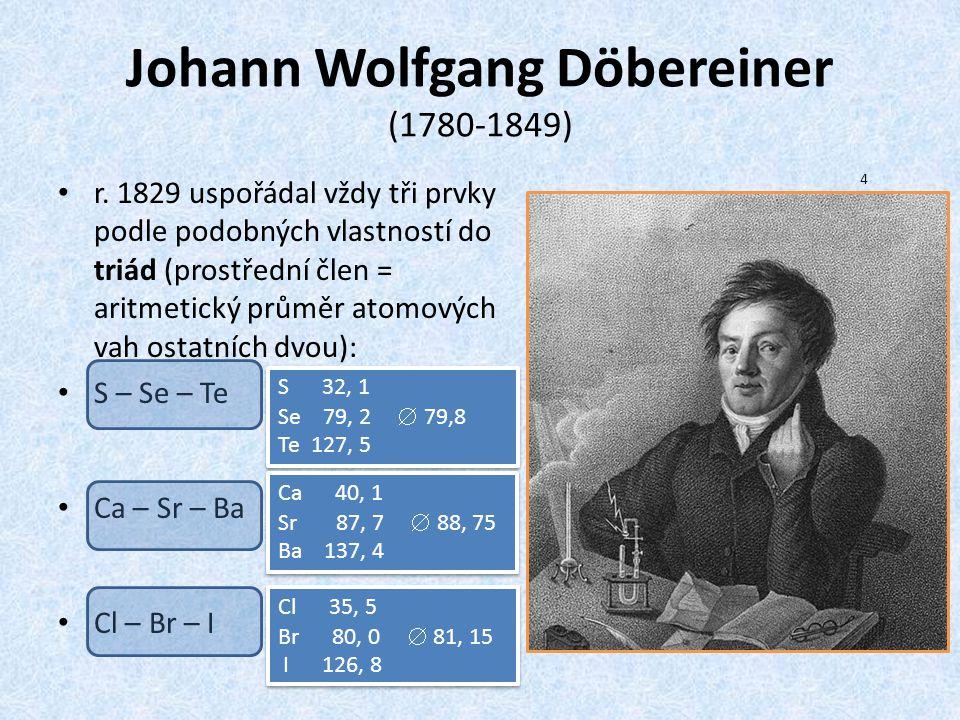 Johann Wolfgang Döbereiner (1780-1849)