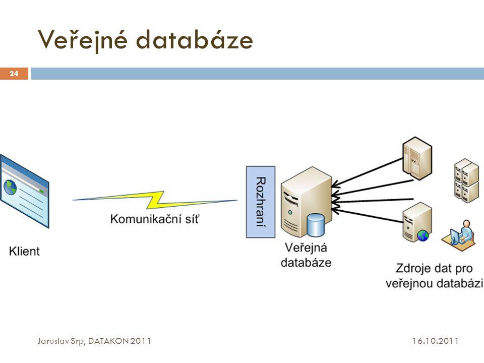 Veřejné databáze Jaroslav Srp, DATAKON 2011 16.10.2011
