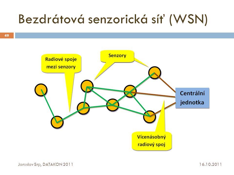 Bezdrátová senzorická síť (WSN)