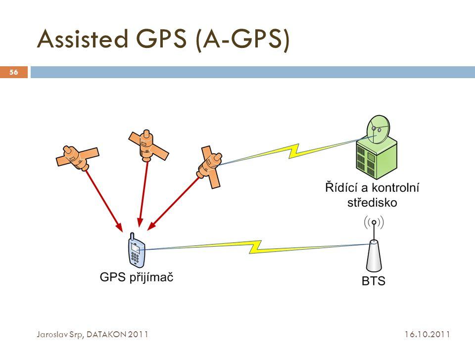 Assisted GPS (A-GPS) Jaroslav Srp, DATAKON 2011 16.10.2011