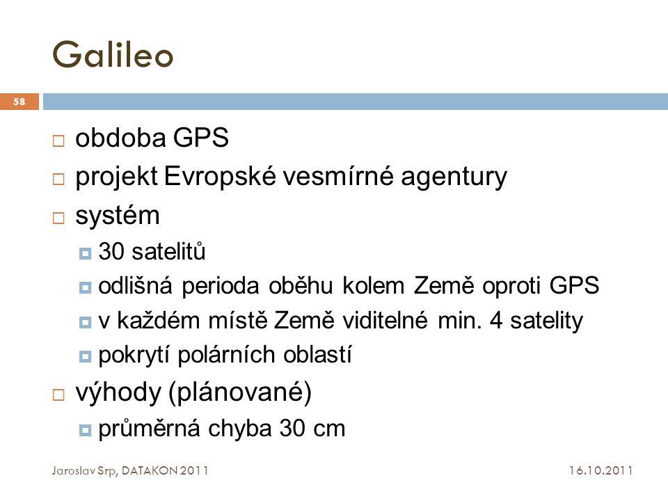 Galileo obdoba GPS projekt Evropské vesmírné agentury systém