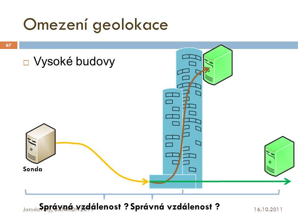 Omezení geolokace Vysoké budovy Správná vzdálenost