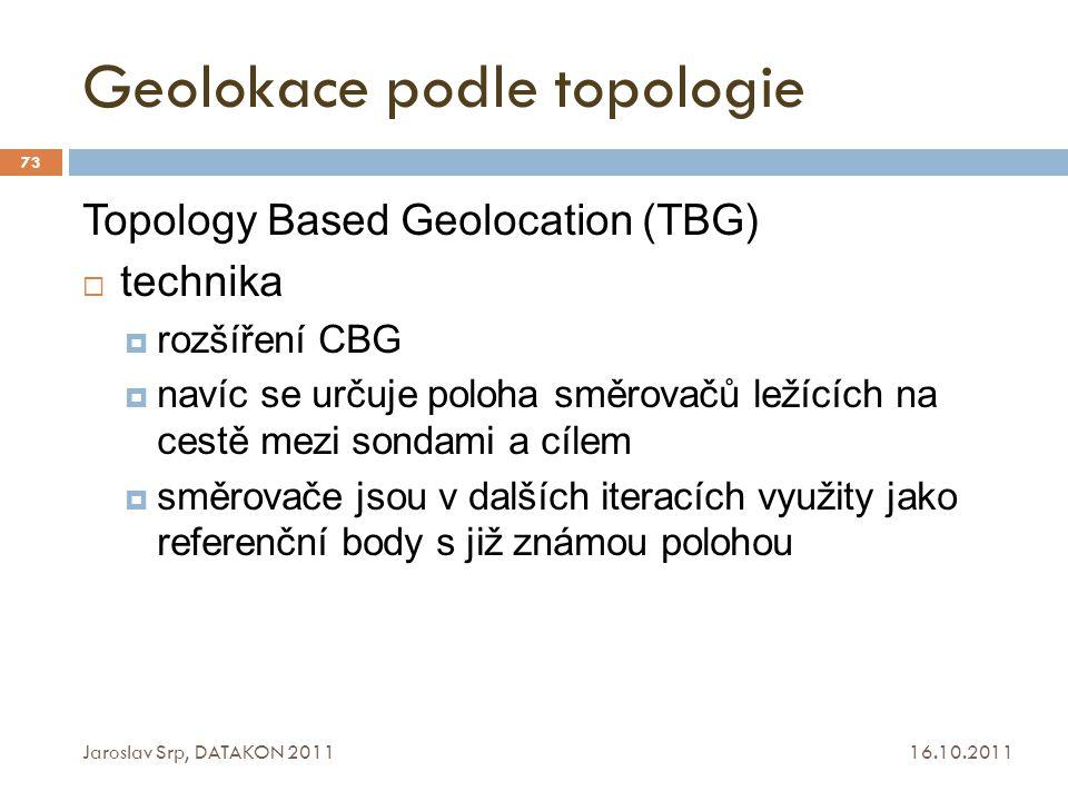 Geolokace podle topologie