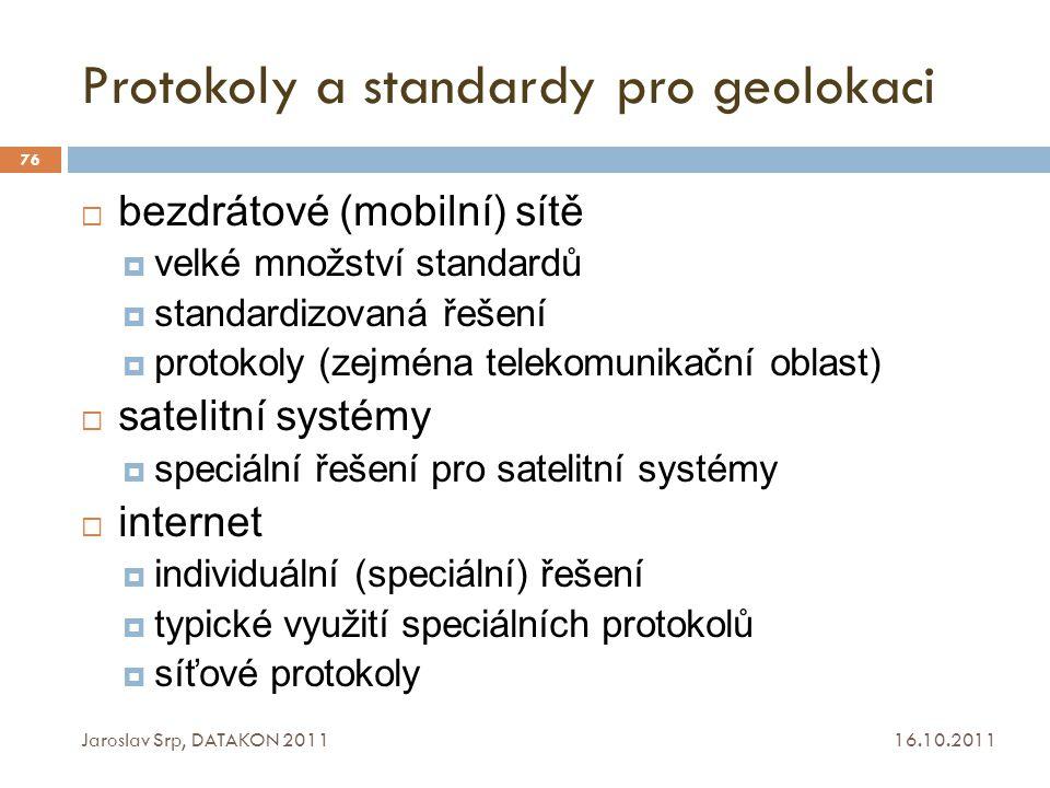 Protokoly a standardy pro geolokaci