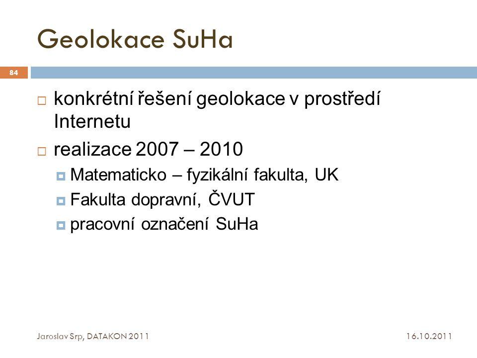 Geolokace SuHa konkrétní řešení geolokace v prostředí Internetu