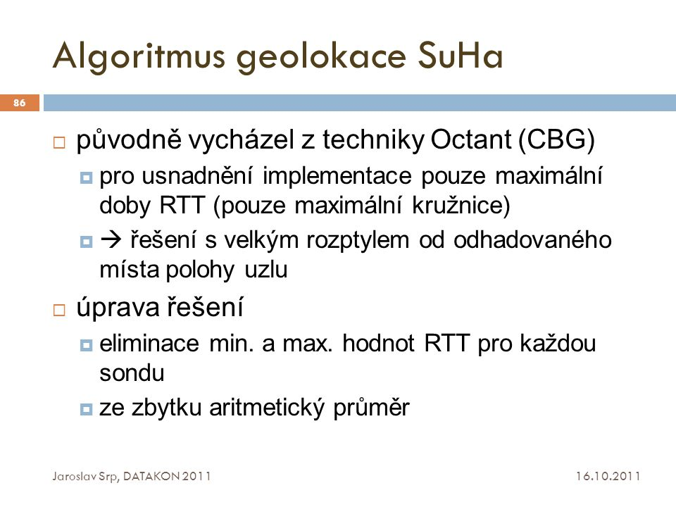 Algoritmus geolokace SuHa