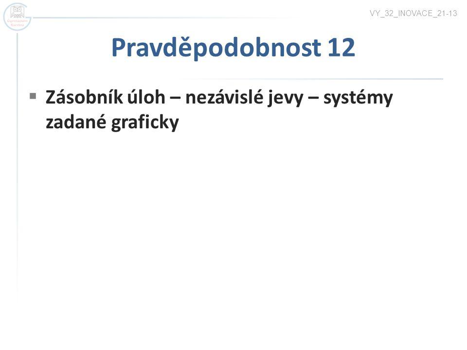 VY_32_INOVACE_21-13 Pravděpodobnost 12 Zásobník úloh – nezávislé jevy – systémy zadané graficky