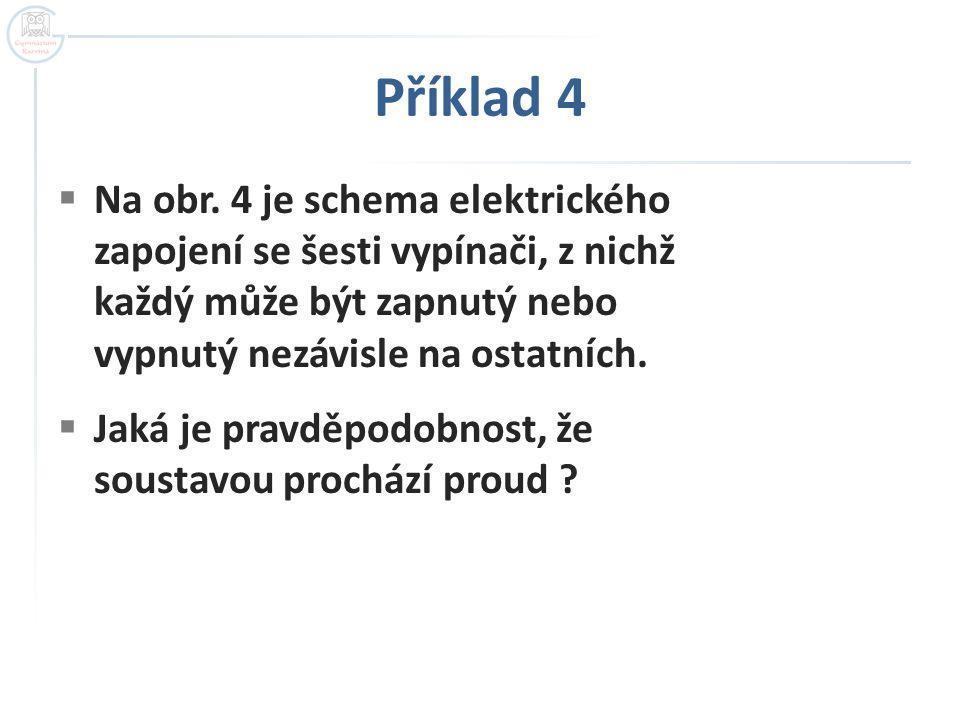Příklad 4 Na obr. 4 je schema elektrického zapojení se šesti vypínači, z nichž každý může být zapnutý nebo vypnutý nezávisle na ostatních.
