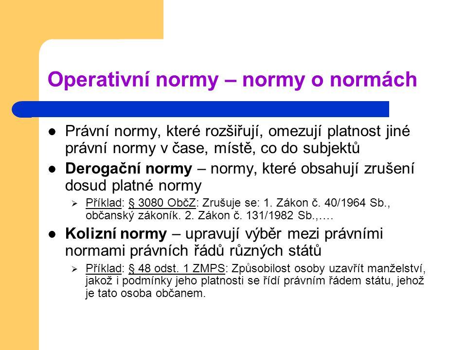 Operativní normy – normy o normách