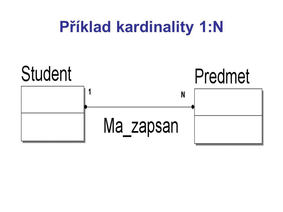 Příklad kardinality 1:N