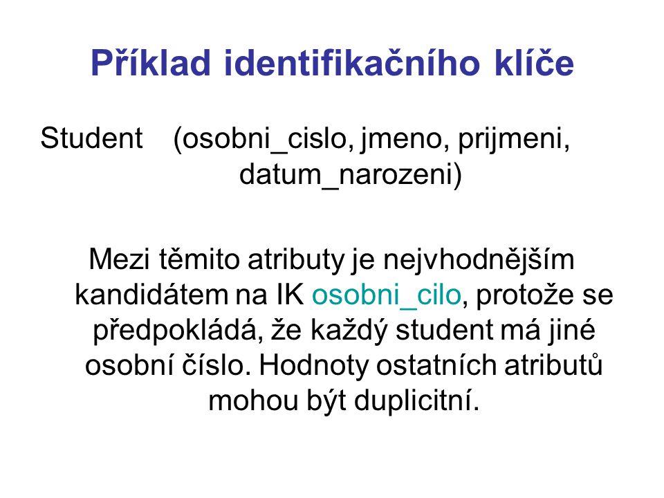 Příklad identifikačního klíče