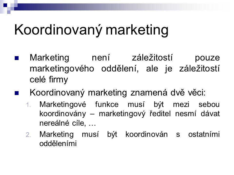 Koordinovaný marketing