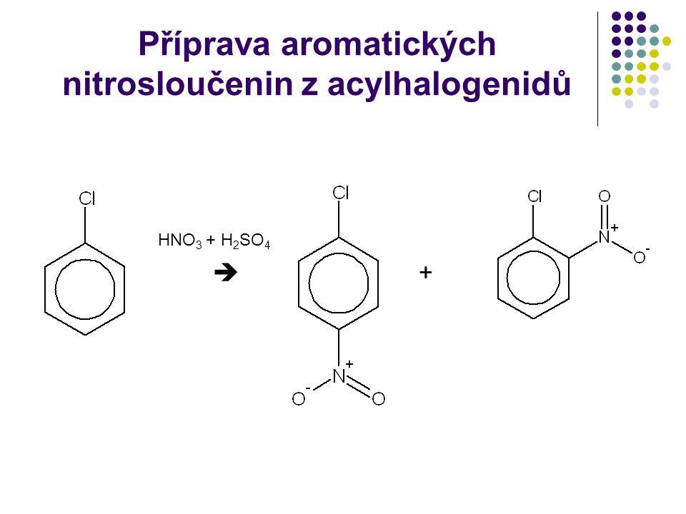 Příprava aromatických nitrosloučenin z acylhalogenidů
