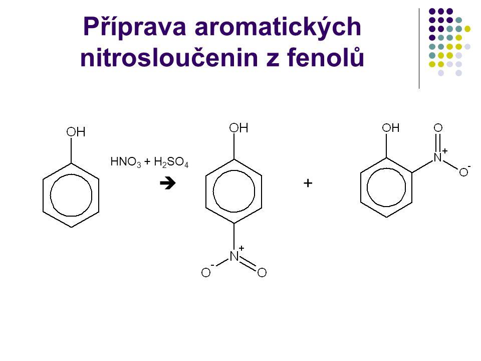 Příprava aromatických nitrosloučenin z fenolů