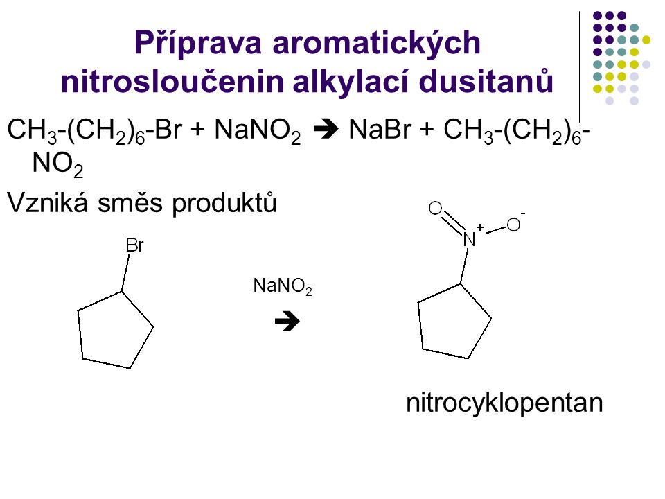 Příprava aromatických nitrosloučenin alkylací dusitanů