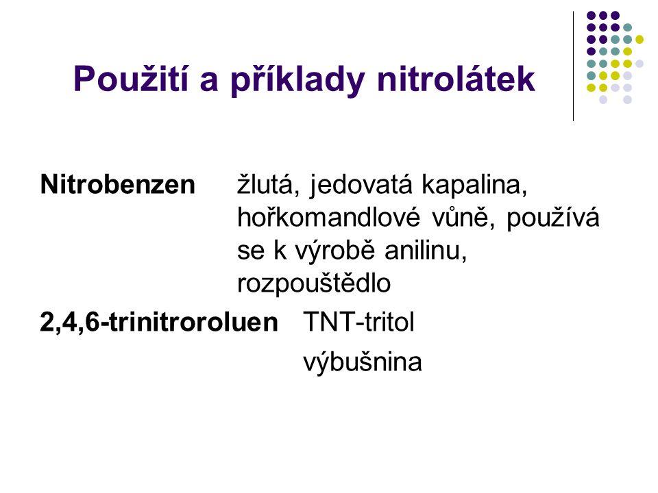 Použití a příklady nitrolátek