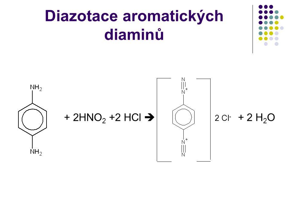Diazotace aromatických diaminů
