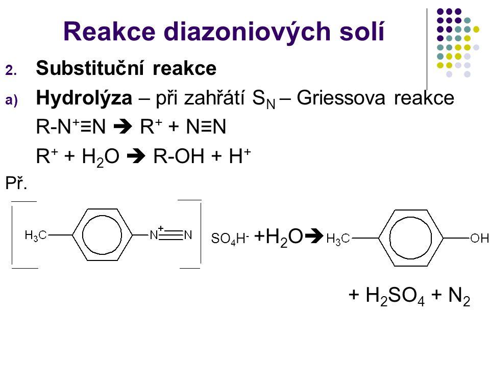 Reakce diazoniových solí