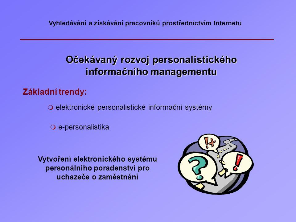 Očekávaný rozvoj personalistického informačního managementu