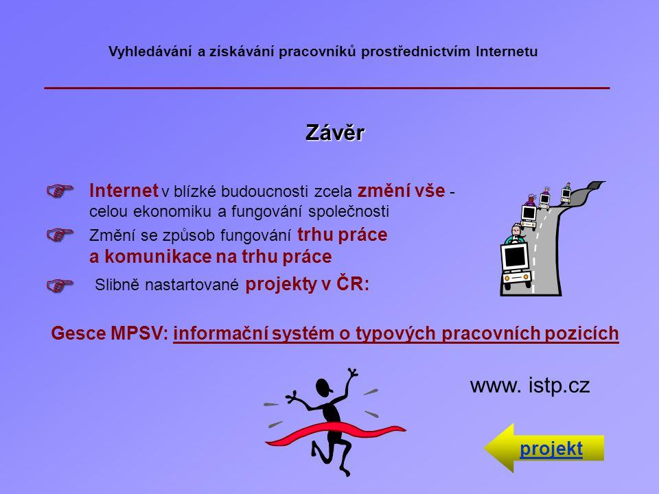 Vyhledávání a získávání pracovníků prostřednictvím Internetu