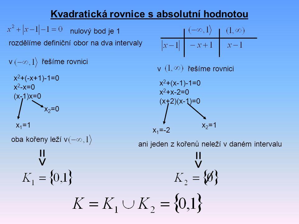 Kvadratická rovnice s absolutní hodnotou