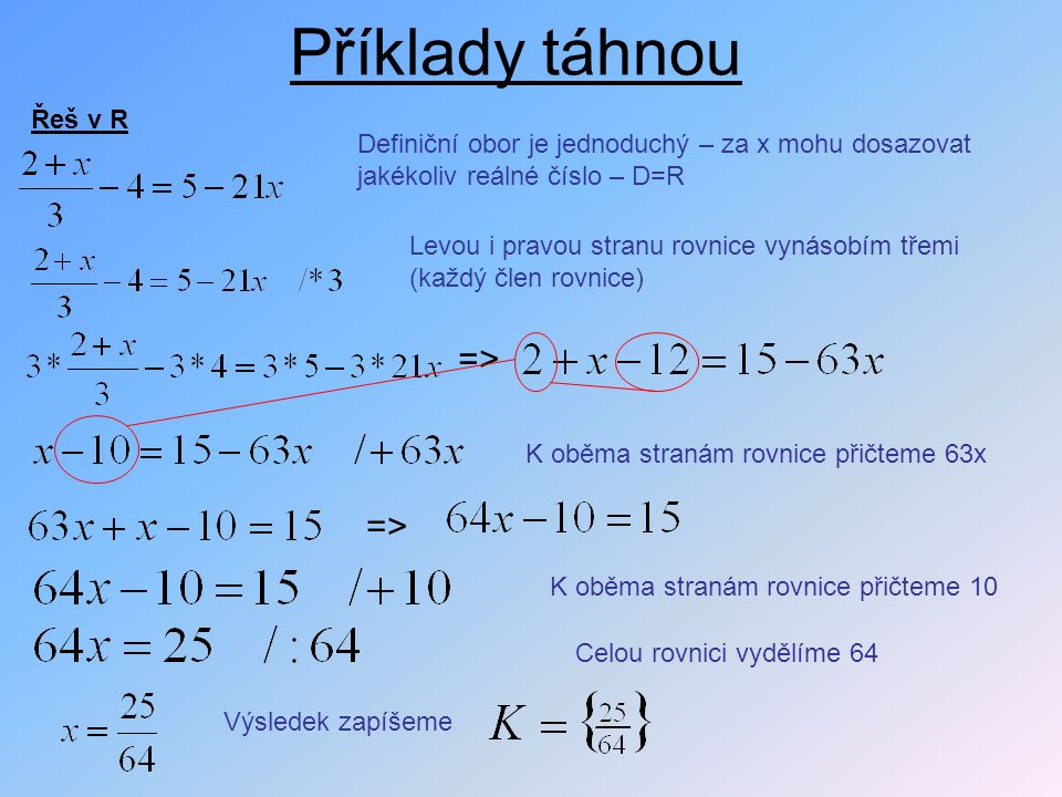 Příklady táhnou => => Řeš v R