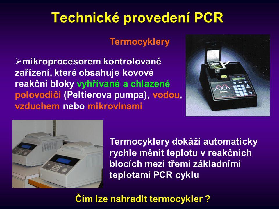 Technické provedení PCR
