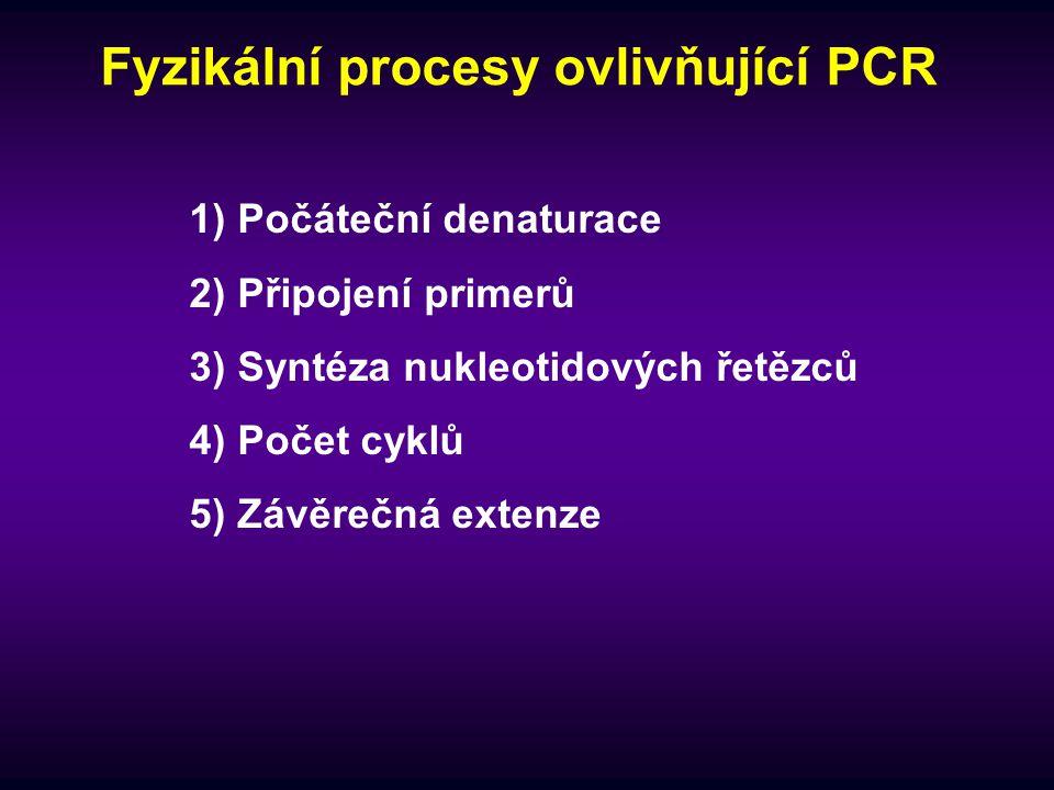 Fyzikální procesy ovlivňující PCR