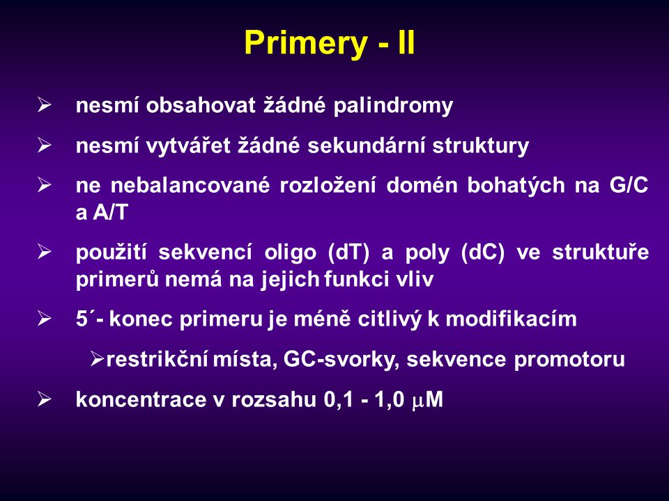 Primery - II nesmí obsahovat žádné palindromy