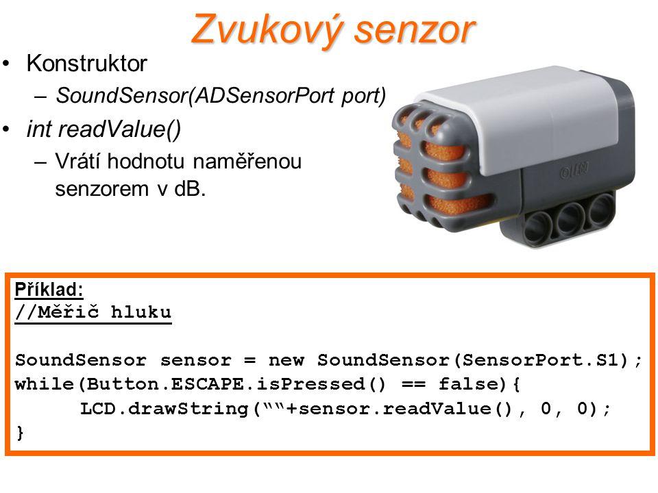 Zvukový senzor Konstruktor int readValue()