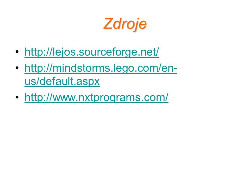 Zdroje http://lejos.sourceforge.net/
