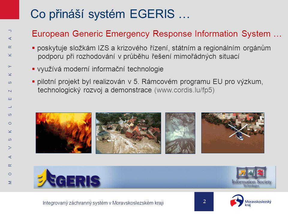 Co přináší systém EGERIS …