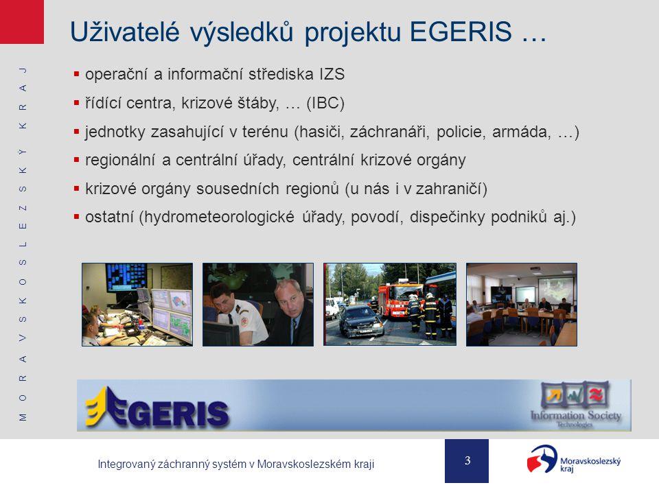 Uživatelé výsledků projektu EGERIS …